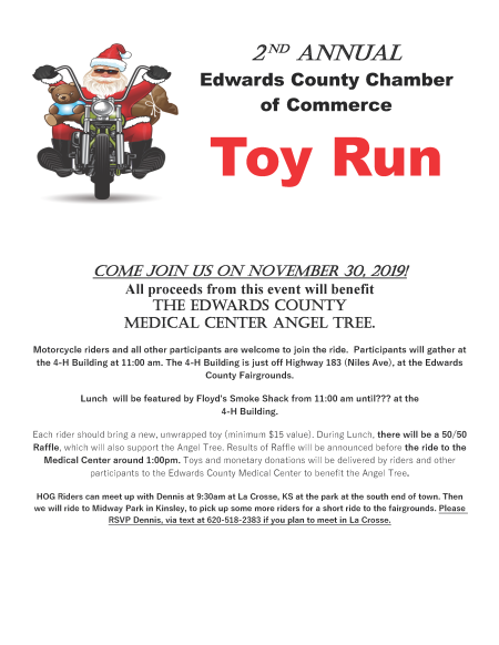 2nd Annual Edwards County Chamber of Commerce Toy Run