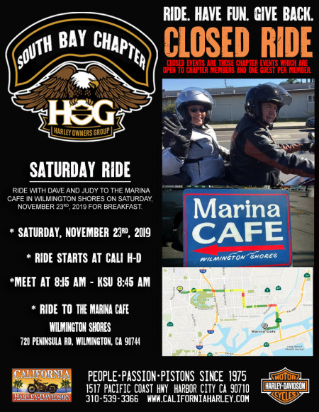 South Bay HOG - Saturday ride with Dave & Judy