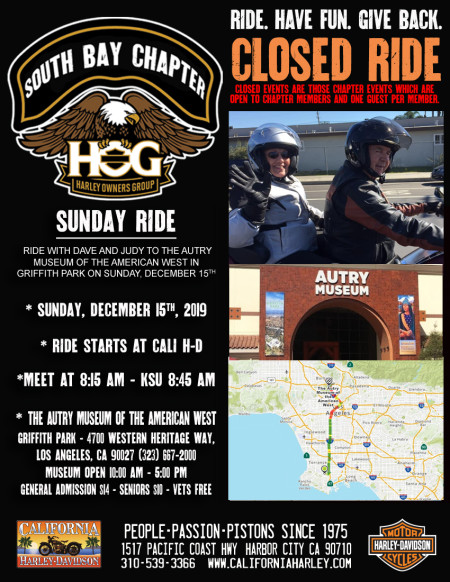South Bay HOG - Sunday ride with Dave & Judy