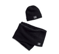 Fleece Lined Knit Hat & Scarf Set