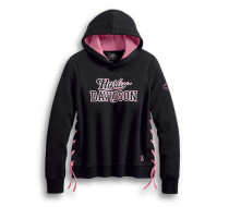 Pink Label Side-Laced Pullover Hoodie