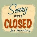 Tallahassee CLOSED for Inventory