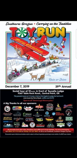 39th Annual Southern Oregon Toy Run