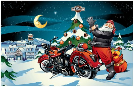 Santa Sighting at Steel Horse Harley!