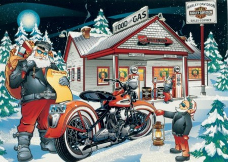 Santa Sighting at Richmond Harley!