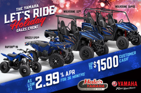 The Hale's Yamaha Let's Ride Holiday Sales Event