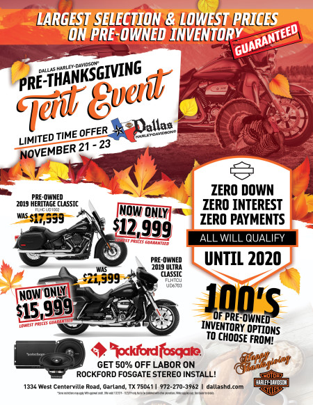 PRE-THANKSGIVING TENT EVENT!