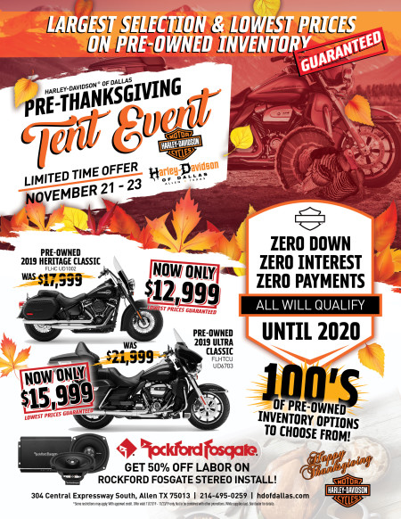 Best Time to Buy a Pre-Owned Harley-Davidson!