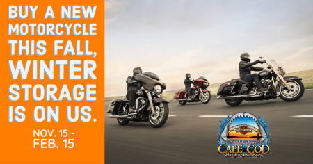 Complimentary Winter Storage with Purchase of a New Motorcycle