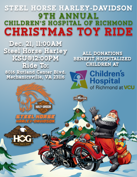 9th Annual Christmas Toy Ride for Children's Hospital of Richmond