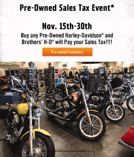 Pre-Owned Sales Tax Event