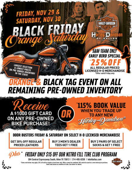 Black Friday and ORANGE Saturday