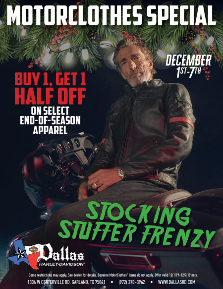 DECEMBER MOTORCLOTHES SPECIAL