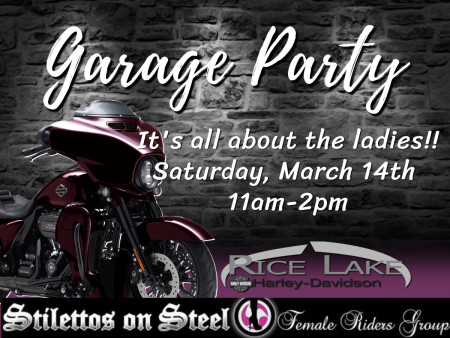 Garage Party for the Ladies!