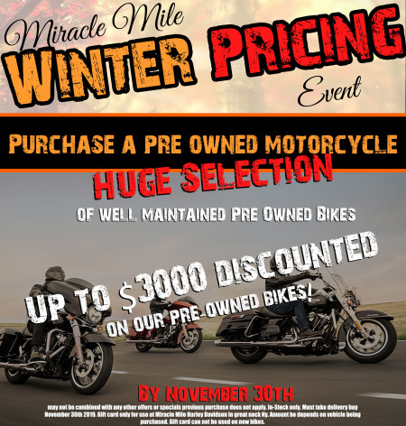 Miracle Mile Winter Pricing Event