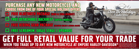 Holiday Specials On New Harley-Davidson Motorcycles