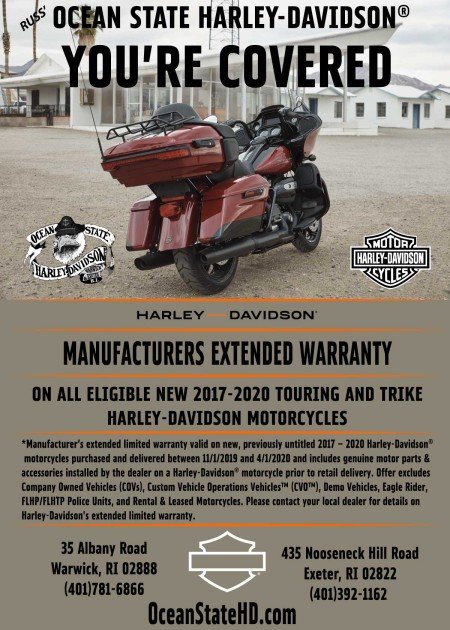 You're Covered: Manufactures Extended Warranty on Eligible New H-D® Motorcycles