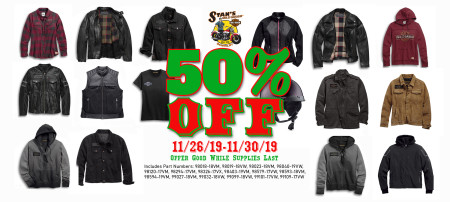 50% Off Listed Clothing Items