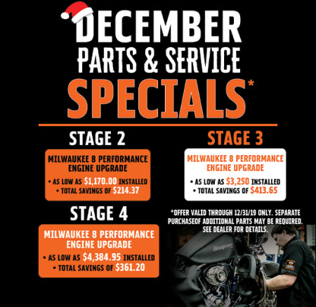 December Parts and Service Specials