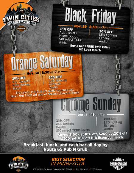 Black Friday At Twin Cities Harley-Davidson in Lakeville