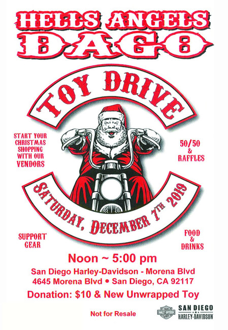 Annual Dago Toy Drive at SD Harley