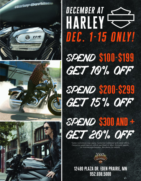 December at Wild Prairie Harley!