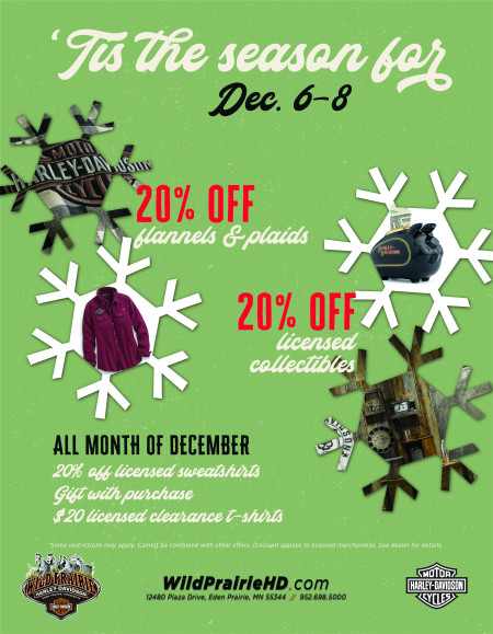 December Weekly MotorClothes offers!