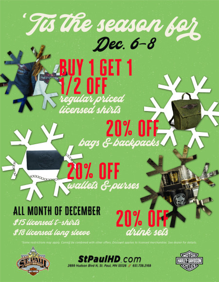 December Weekly MotorClothes Promotions!