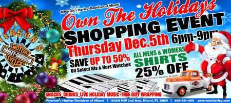 Harley Davidson Holiday Party Miami Florida. Own The Holiday's Shopping Event