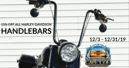 15% off Handlebars in December