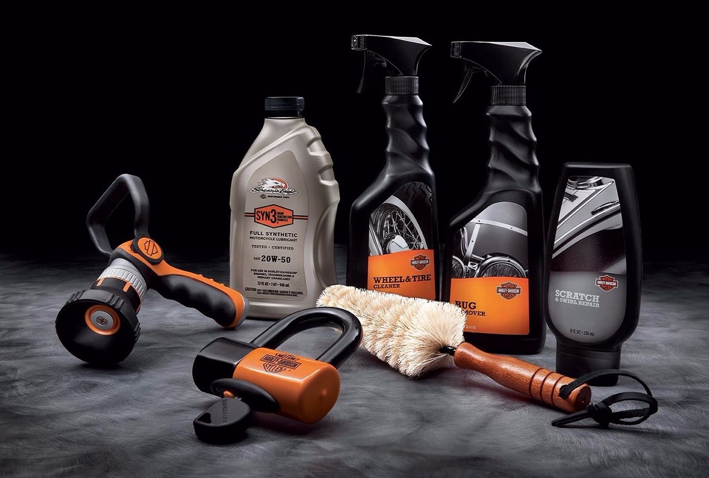 Sheldon's Harley Davidson leather cleaning kit