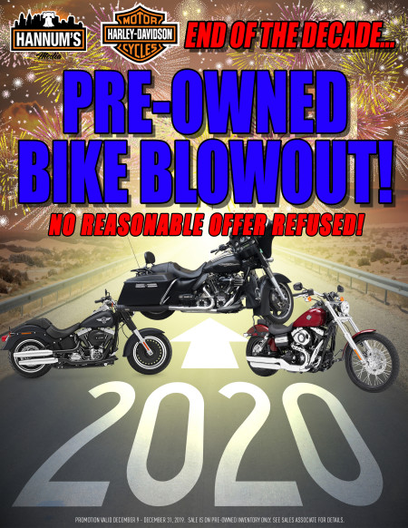 End of the Decade Used Bike Promo