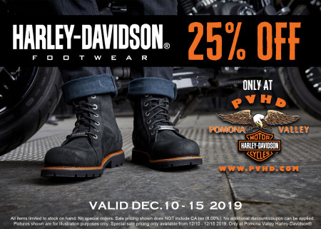 H-D® Footwear NOW 25% OFF