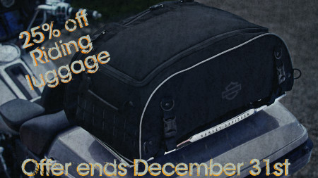 25% off riding Luggage