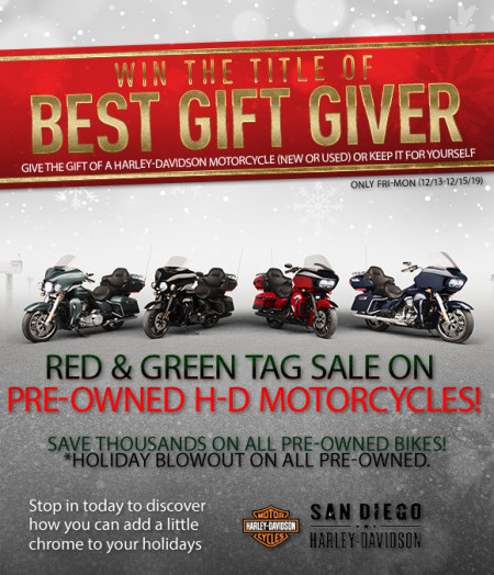 Red & Green Tag Pre-Owned Sale