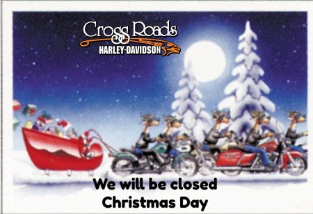 We will be clsoed Friday, December 25th for Christmas