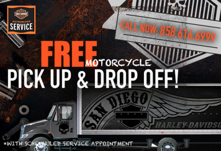 Free Pick Up and Drop Off for your Motorcycle!