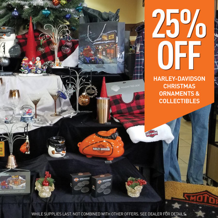 25% OFF Harley-Davidson Christmas Ornaments & Holiday Collectibles