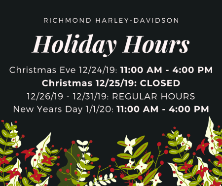 Richmond Events Christmas Day 2020 Limited Holiday Hours | Richmond Harley Davidson®