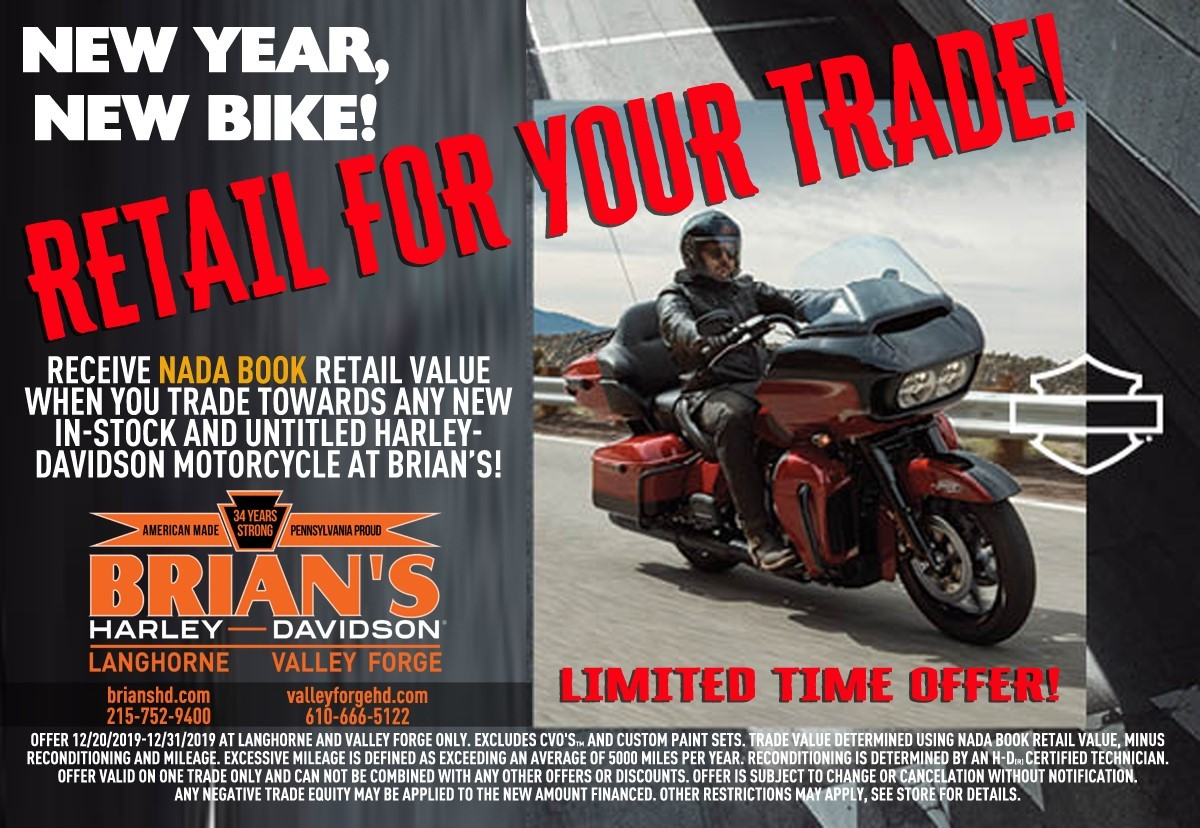NADA Reatil For Your Trade Offer Brian's Harley-Davidson®