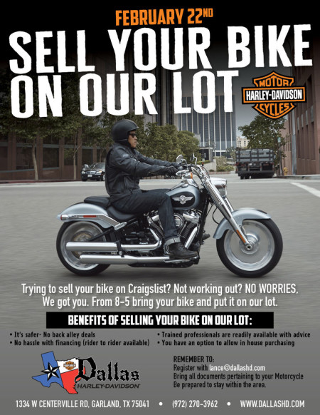 Sell your bike on our lot!