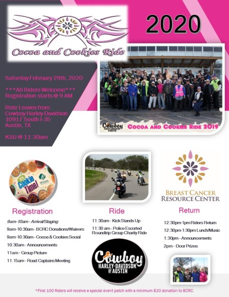 2020 Annual Cocoa and Cookies Ride