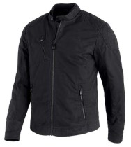 JACKET-WAXED CANVAS,CTTN,BLK