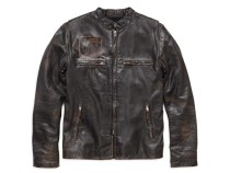 JACKET-SPEED,LEA,DISTR,BLK