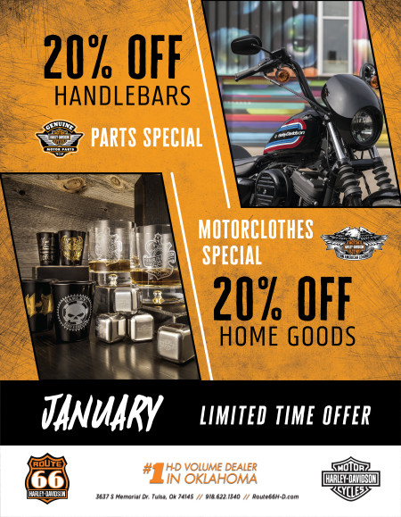 MOTORCLOTHES & PARTS MONTHLY SPECIAL
