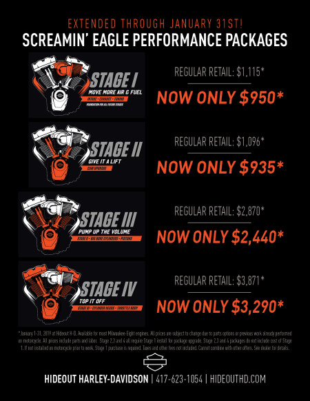 Screamin' Eagle Performance Packages