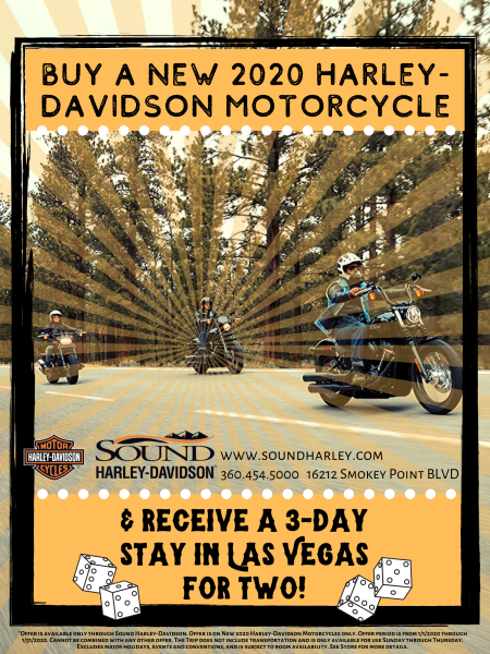 Buy a New 2020 Motorcycle & Receive a 3-day stay in Las Vegas!