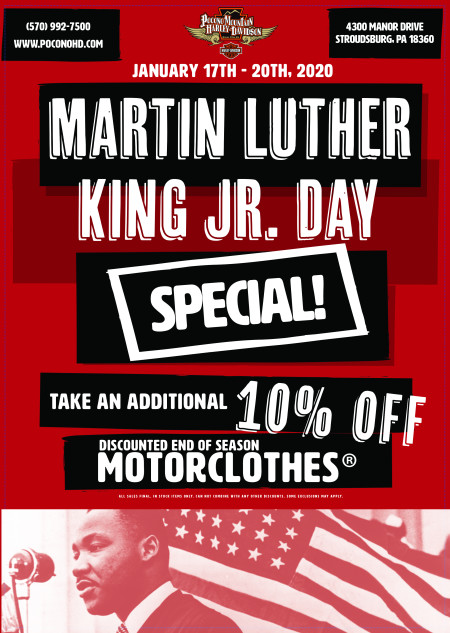 MLK Jr. Day Specials!