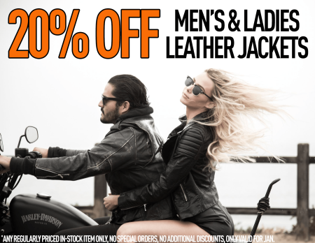 January Leather Weather Sale
