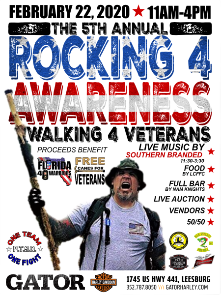 "5th Annual Rocking 4 Awareness ""Walking 4 Veteran's"""